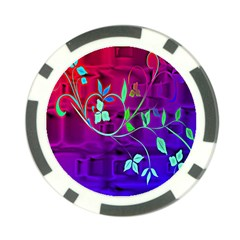 Floral Colorful Poker Chip