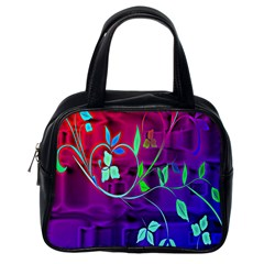 Floral Colorful Classic Handbag (One Side)