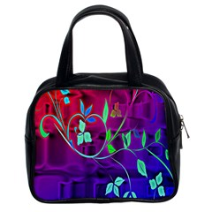 Floral Colorful Classic Handbag (two Sides)