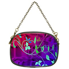 Floral Colorful Chain Purse (One Side)