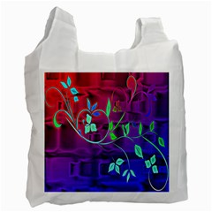 Floral Colorful Recycle Bag (one Side)