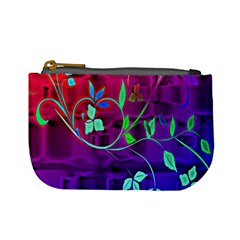 Floral Colorful Coin Change Purse