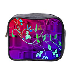 Floral Colorful Mini Travel Toiletry Bag (two Sides)