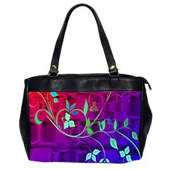 Floral Colorful Oversize Office Handbag (Two Sides)