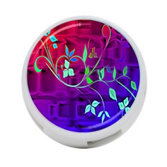 Floral Colorful 4-Port USB Hub (Two Sides)