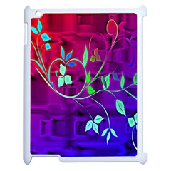Floral Colorful Apple Ipad 2 Case (white)