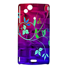 Floral Colorful Sony Xperia Arc Hardshell Case