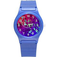 Floral Colorful Plastic Sport Watch (Small)