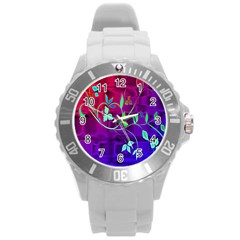 Floral Colorful Plastic Sport Watch (Large)