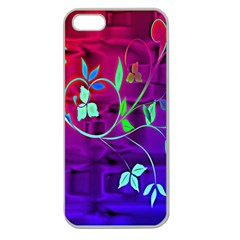 Floral Colorful Apple Seamless iPhone 5 Case (Clear)