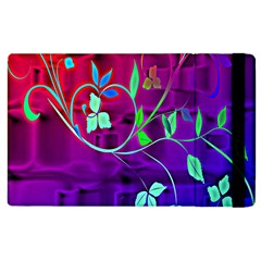 Floral Colorful Apple iPad 2 Flip Case