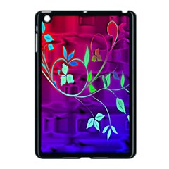 Floral Colorful Apple iPad Mini Case (Black)