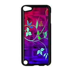 Floral Colorful Apple iPod Touch 5 Case (Black)