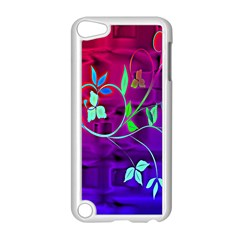 Floral Colorful Apple iPod Touch 5 Case (White)