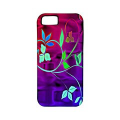 Floral Colorful Apple iPhone 5 Classic Hardshell Case (PC+Silicone)