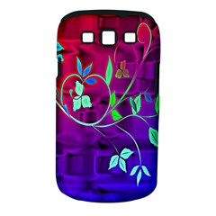Floral Colorful Samsung Galaxy S III Classic Hardshell Case (PC+Silicone)