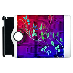 Floral Colorful Apple iPad 2 Flip 360 Case