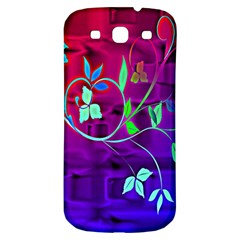 Floral Colorful Samsung Galaxy S3 S Iii Classic Hardshell Back Case