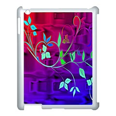 Floral Colorful Apple iPad 3/4 Case (White)