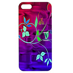 Floral Colorful Apple iPhone 5 Hardshell Case with Stand