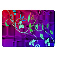 Floral Colorful Samsung Galaxy Tab 10.1  P7500 Flip Case