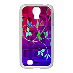 Floral Colorful Samsung Galaxy S4 I9500/ I9505 Case (white)