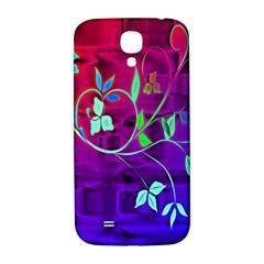 Floral Colorful Samsung Galaxy S4 I9500/I9505  Hardshell Back Case
