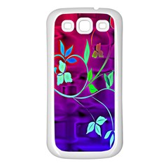 Floral Colorful Samsung Galaxy S3 Back Case (white)