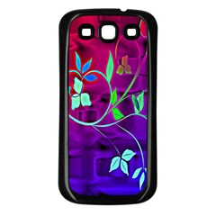 Floral Colorful Samsung Galaxy S3 Back Case (black)