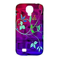 Floral Colorful Samsung Galaxy S4 Classic Hardshell Case (pc+silicone)