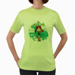 Save Bird Womens  T-shirt (Green)