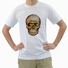 Warm Skull Mens  T Shirt (white)