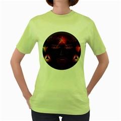 Wizard Womens  T-shirt (Green)