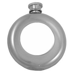 Your Logo Here Hip Flask (Round)