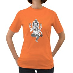 mechanical  Ganesha Womens' T-shirt (Colored)