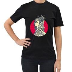 Geisha Cyborg Womens' Two Sided T Shirt (black)