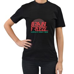 Brain Freeze Womens' Two Sided T-shirt (Black)