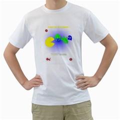 pac vs invaders Mens  T-shirt (White)