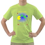 pac vs invaders Mens  T-shirt (Green) Front