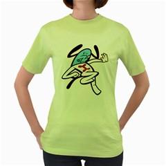 Blue Dog Womens  T Shirt (green)