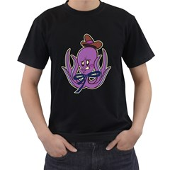 Oswald The Squid  Mens' Two Sided T Shirt (black)