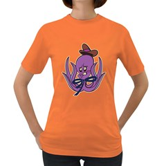 Oswald The Squid  Womens' T Shirt (colored)