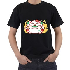 Lucky Cat Mens' T Shirt (black)