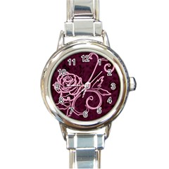 Rose Round Italian Charm Watch