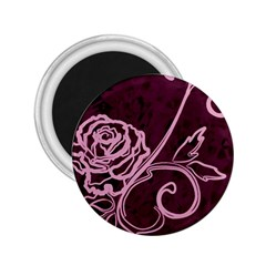Rose 2.25  Button Magnet