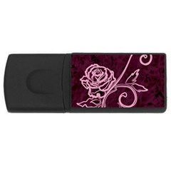 Rose 1GB USB Flash Drive (Rectangle)