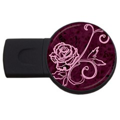 Rose 4GB USB Flash Drive (Round)