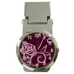 Rose Money Clip with Watch