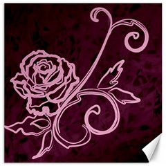 Rose Canvas 20  X 20  (unframed)