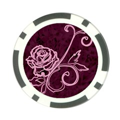 Rose Poker Chip (10 Pack)